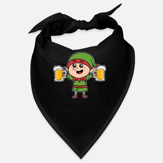 Alcohol Bandanas - Christmas party elf beer - Bandana black
