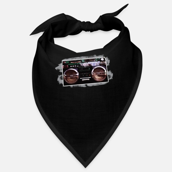 Boom Box Bandanas - Retro boombox old school cool culture - Bandana black