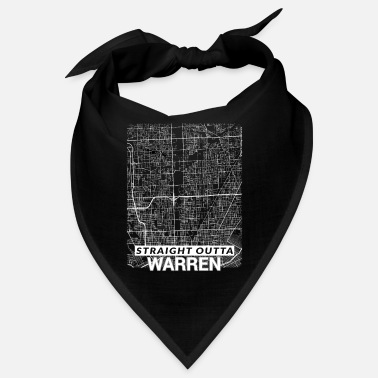 Live Straight Outta Warren city map and streets - Bandana
