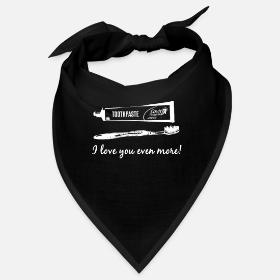 Love Bandanas - Toothbrush and toothpaste Valentine's Day gift - Bandana black