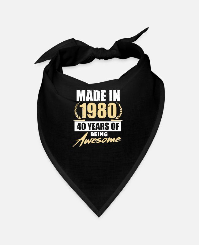 Birthday Greeting Bandanas - 1980 - Bandana black