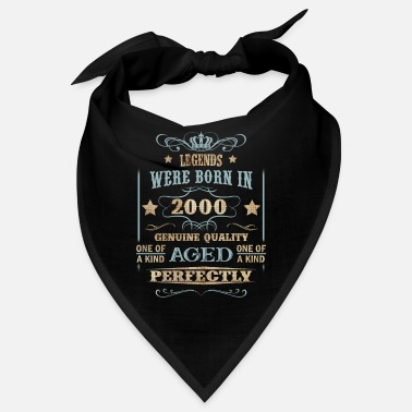 Anniversary 2000 Vintage Legend Were Born in - Bandana