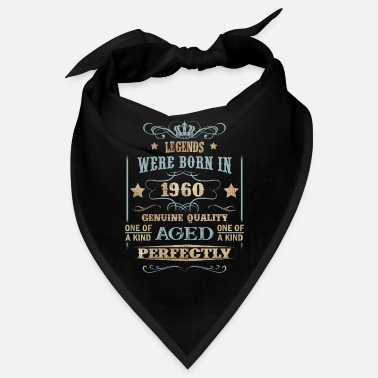 Anniversary 1960 Vintage Legend Were Born in - Bandana