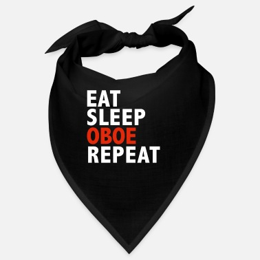 Vatertag Eat Sleep Oboe Wiederholen Sie Oboe Player Oboist Music - Bandana