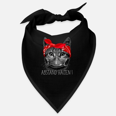 Cat Keep Your Distance Keep distance ! Cat cat with face mask - Bandana
