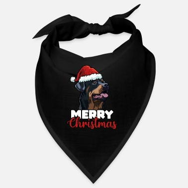 Outfit Merry Christmas Rottweiler Dog Lover Gift - Bandana