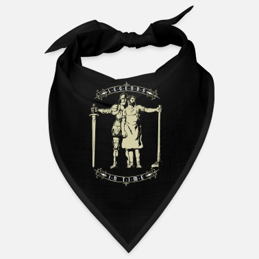 Heraldry Legends in Time, vintage knights and workers - Bandana