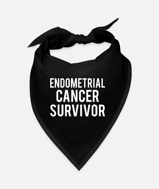 Ribbons Bandanas - Endometrial Cancer: Endometrial Cancer Survivor - Bandana black