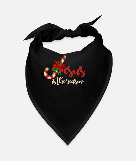 Jesus Is The Reason For The Season Bandanas - Jesus Is The Reason - Bandana black