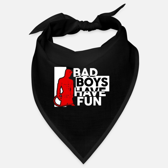 Birthday Bandanas - Bad Boys Have Fun - Bandana black