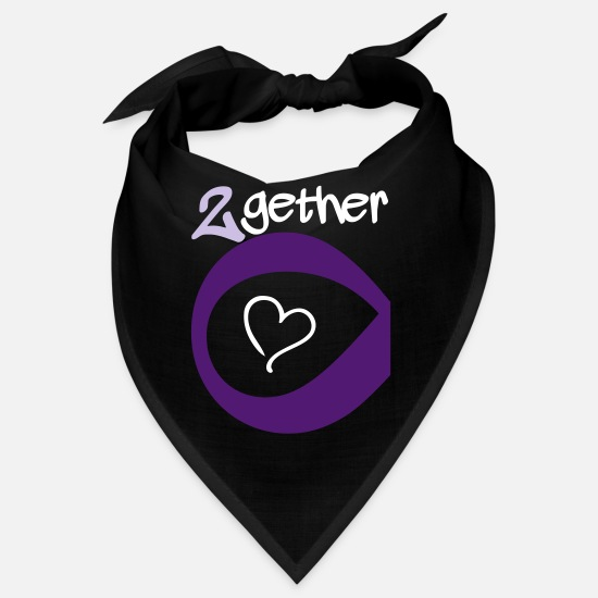 Freundin Bandanas - Couple Together forever Infinity - Bandana Schwarz