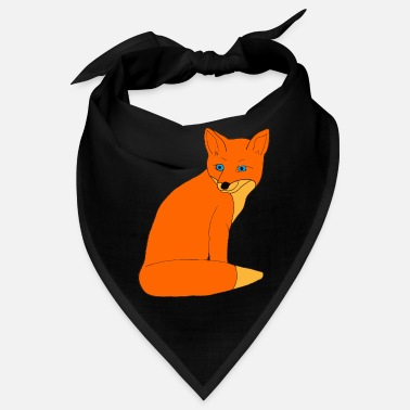 fox clever orange gift - Bandana
