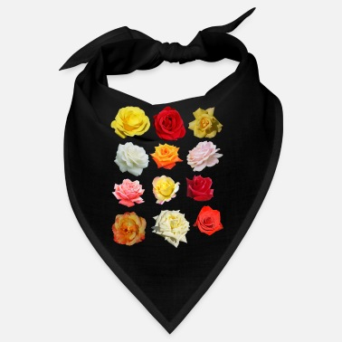 Roses colorful flowers - Bandana