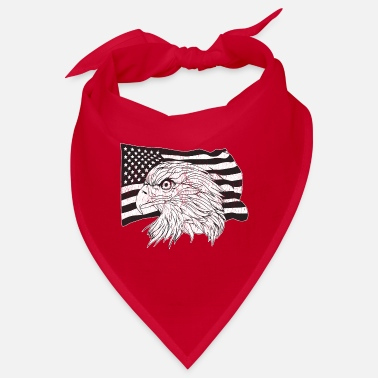 American American Flag with American Eagle - Bandana