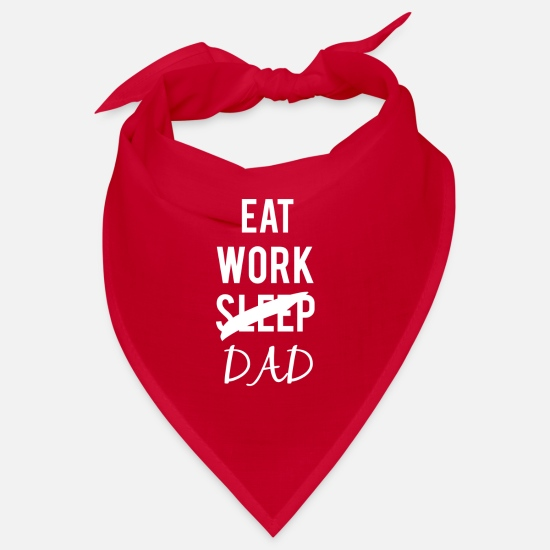 Gift Idea Bandanas - eat work dad - Bandana red