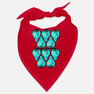 Cupid skulls colorful - Bandana