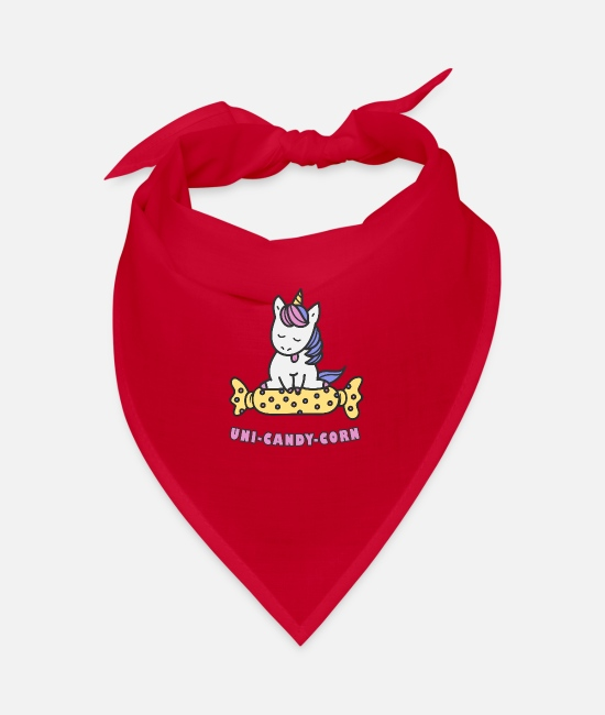 Girlish Bandanas - Candy unicorn - Bandana red