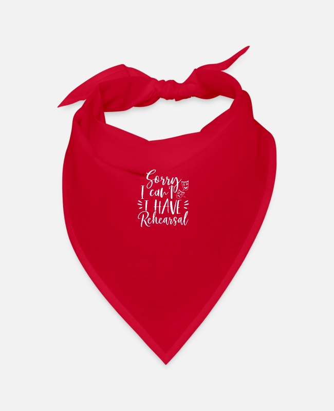 Trial Bandanas - Sorry I can't rehearse Broadway theater - Bandana red