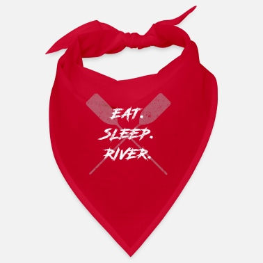 Eat Sleep River Canoe Kayak Fishing - Bandana