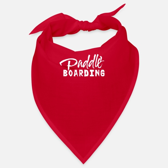 Aquatics Bandanas - Paddle Paddle Paddleboard Paddleboard Stand Up - Bandana red