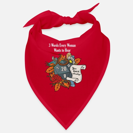 Girlfriend Bandanas - Roleplaying RPG Valentines Day TableTop D20 Dice - Bandana red
