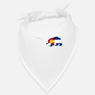 Skies Colorado State Flag Bear Colorado Day Mountains - Bandana