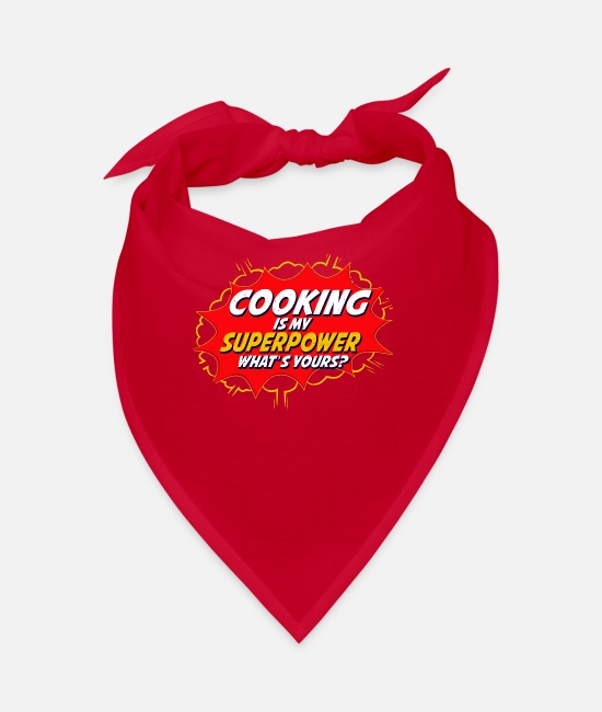 Hobby Cook Bandanas - Cooking chef kitchen chef cook food gift - Bandana red