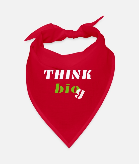 Think Big Bandanas - Think bio white - Bandana red
