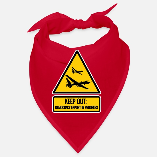 Cool Bandanas - keep out: democracy export in progress - Bandana red