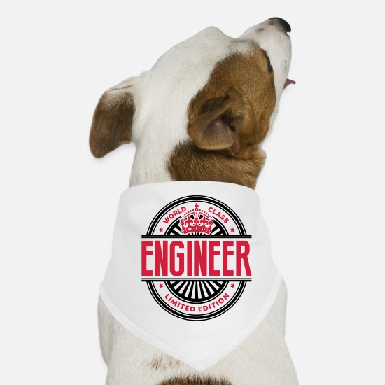 Logo Bandanas - World class engineer limited edition best logo - Dog Bandana white