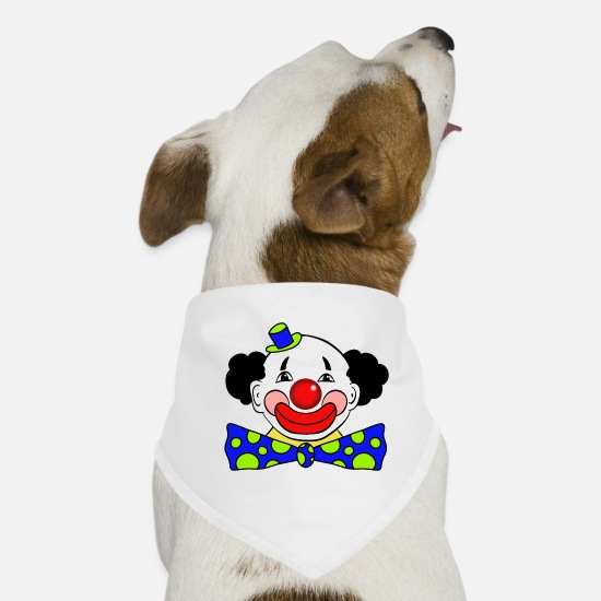 Clown Bandanas - clown - Dog Bandana white