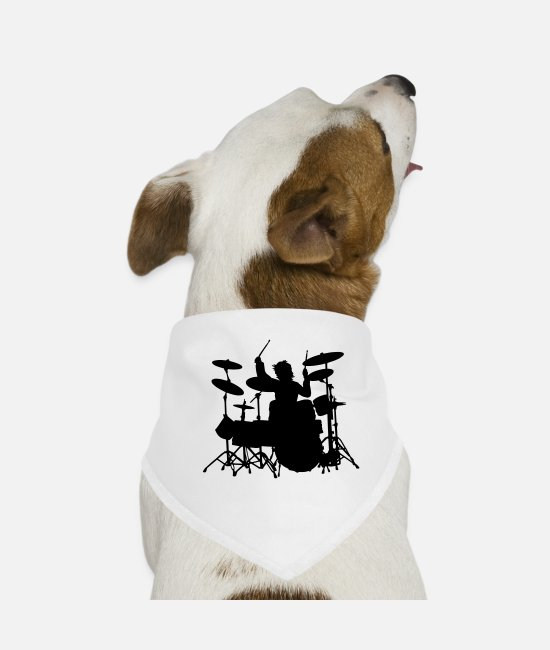 Mapex Bandanas - Power Drumming - Dog Bandana white