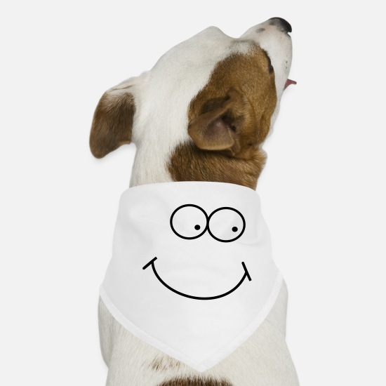 Avatar Bandanas - right eye - Dog Bandana white