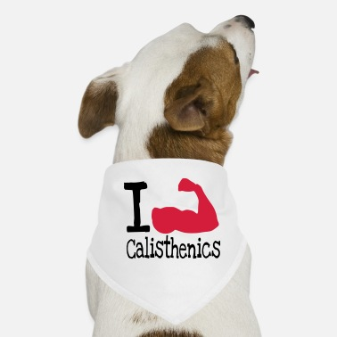 I love calisthenics_red - Dog Bandana