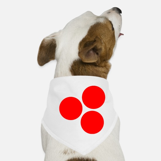 Love Bandanas - Circles red - Dog Bandana white