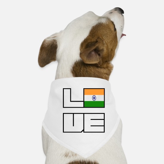 Eu Bandanas - Love home roots Roots India - Dog Bandana white