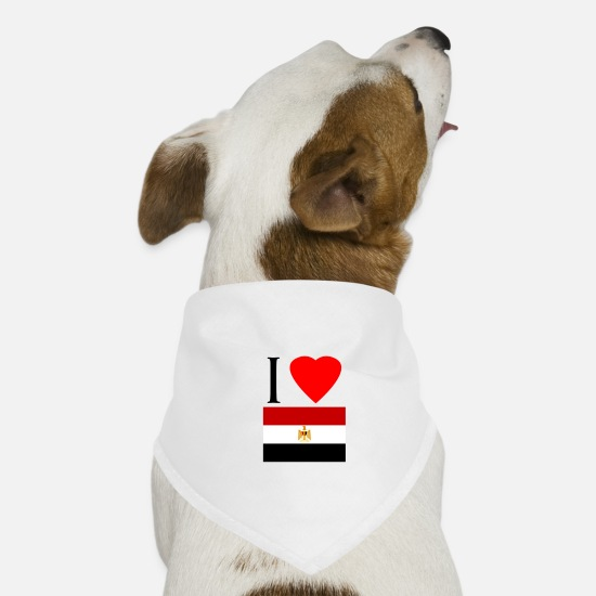 Love Bandanas - I love Egypt - Dog Bandana white