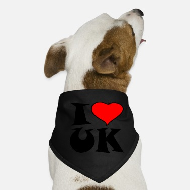 Uk Uk - I love UK - i love UK - Dog Bandana
