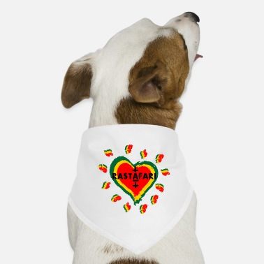 Rastafari Rastafari love - heart - Dog Bandana