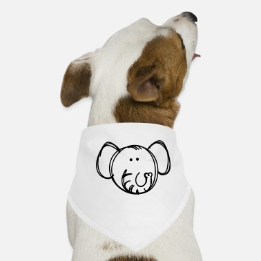 Drawing Elephant drawing - Dog Bandana