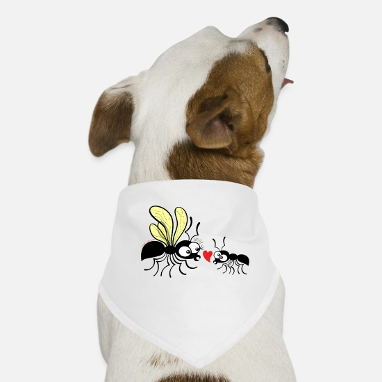 Declaration Of Love Bandanas - Declaration of love for a queen ant - Dog Bandana white