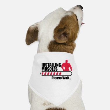 Funny Gym Funny Gym Installign Muscles - Dog Bandana