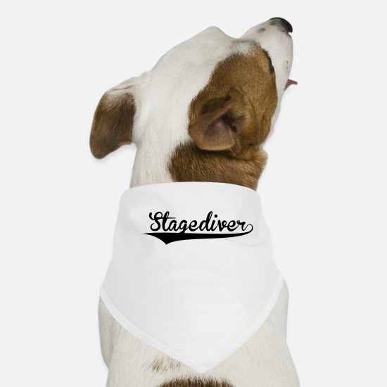 Ball Bandanas - stagediver retro college baseball style - Dog Bandana white