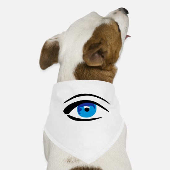 Auge Bandanas - Eye / Auge - watching you - Hunde-Bandana Weiß