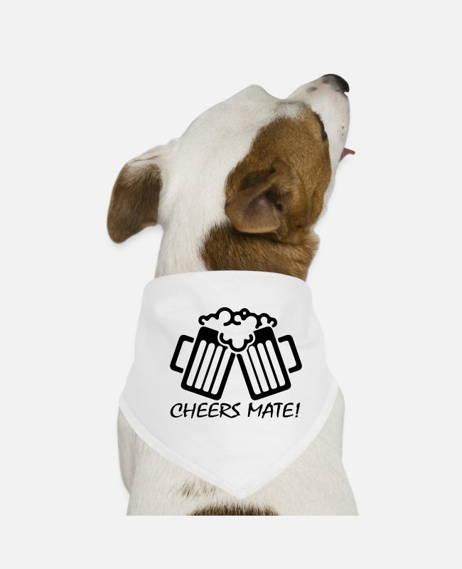 Mateo Bandanas - Cheers Mate - Dog Bandana white
