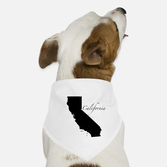 Usa Bandanas - Kalifornien California West Coast Los Angeles - Hunde-Bandana Weiß