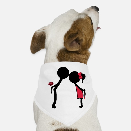 Love Bandanas - KISS - Dog Bandana white