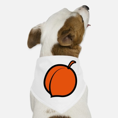 Stem a single peach with stem - Dog Bandana