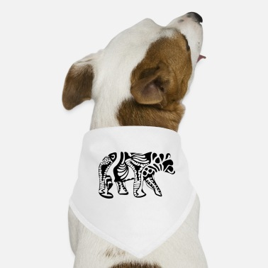 Bear abstract bear - Dog Bandana