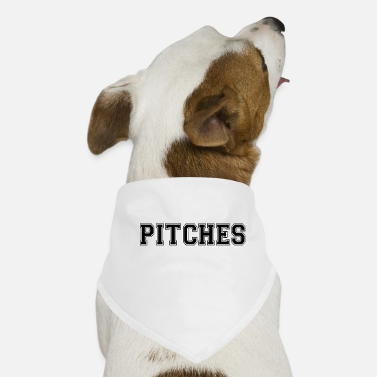 Music Bandanas - pitches - Dog Bandana white